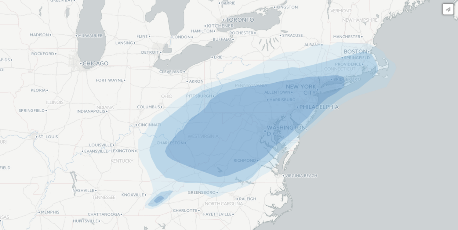 Huntsville Weather Map.How To Build A Weather Map In Cartodb Storybench