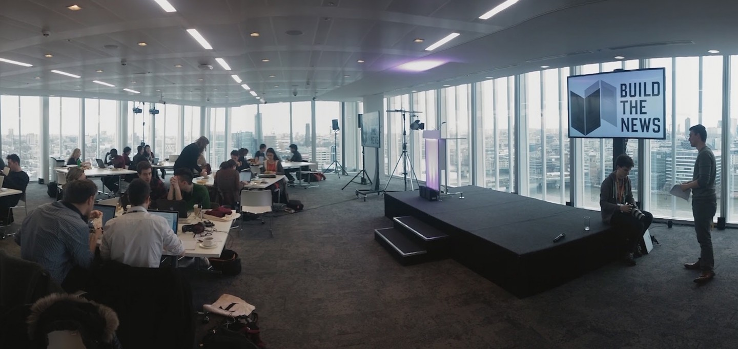 The Build the News hackathon in London last weekend. Photo: Maria Crosas