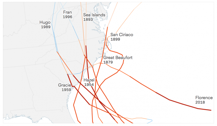 How Axios built an animated map showing hurricane paths